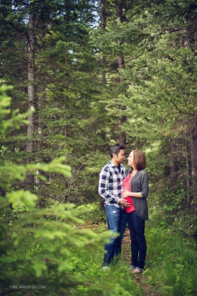 Warren & Lori + 1 // Canmore Engagement Photographers | Canmore Maternity Photographers | Carlin Anquist Photography