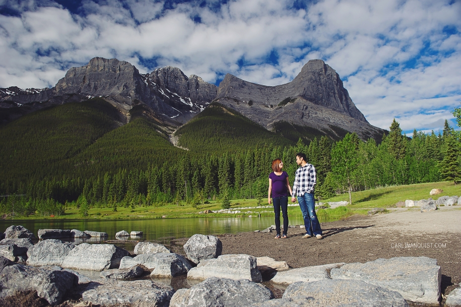 Warren & Lori + 1 // Rocky Mountains | Canmore Engagement Photographers | Canmore Maternity Photographers | Carlin Anquist Photography