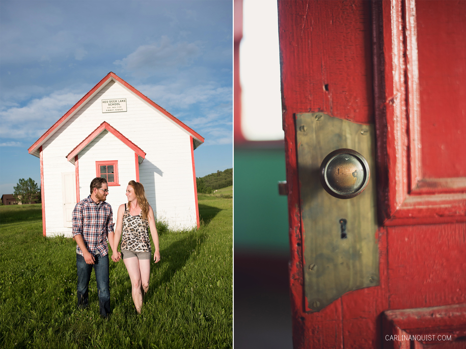 Red Deer Lake School Engagement Photos | Carlin Anquist Photography