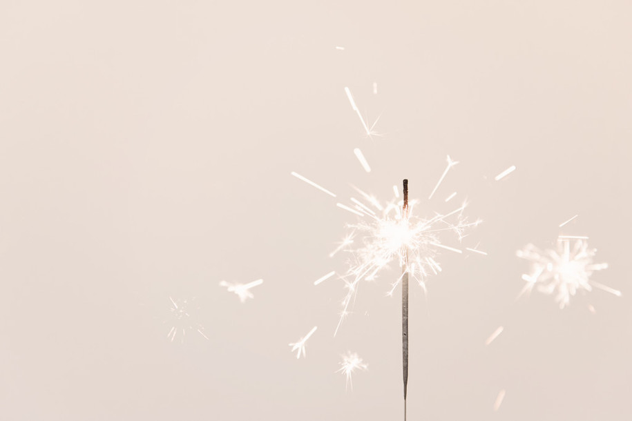 Sparkler Candle | Photography Goals | One Year Later
