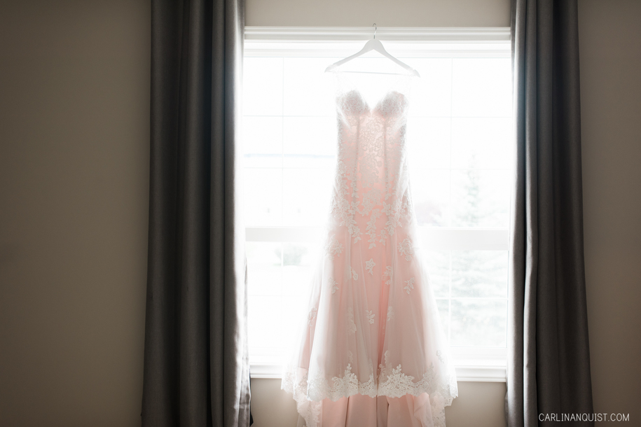 Stella York Blush Gown | Cochrane Wedding Photographer