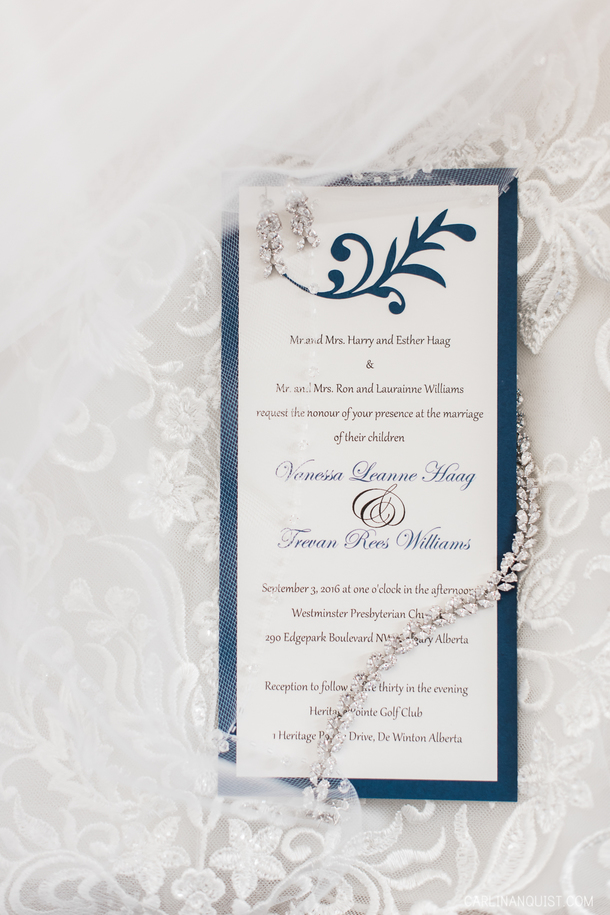 Wedding Invitation | Heritage Pointe Golf Club Wedding Photographer