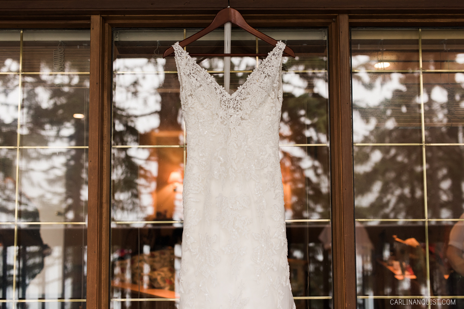 Wedding Dress | Emerald Lake Elopement Photos | Field, BC