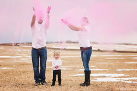 Holi Powder Gender Reveal