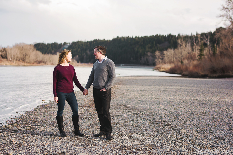 Calgary Engagement Photos at Edworthy Park