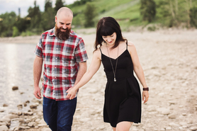 Spring Engagement Photos | Heritage Park | Calgary Engagement Photographer