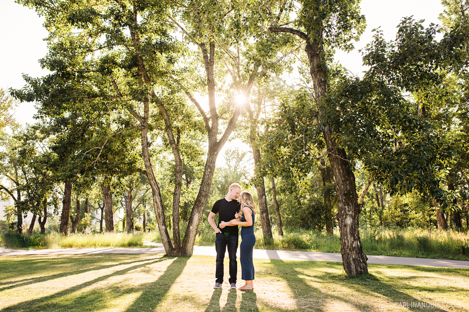 East Village Engagement Photos | Calgary Wedding Photographer