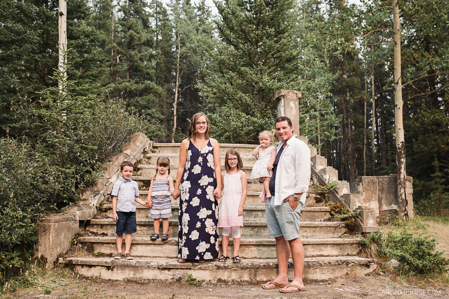 Banff Family Photographer | Bankhead Ruins