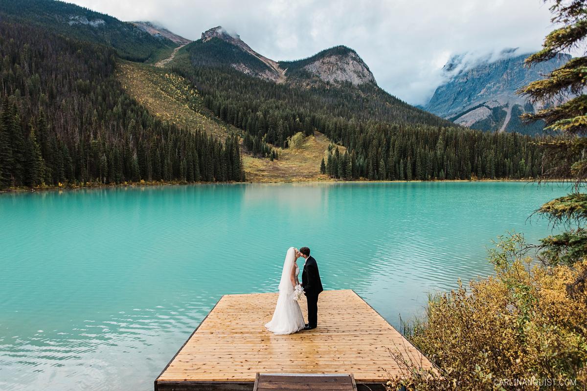 Emerald Lake Lodge Wedding Photographer Mountain Elopement Carlin Anquist Photography Calgary Photographers